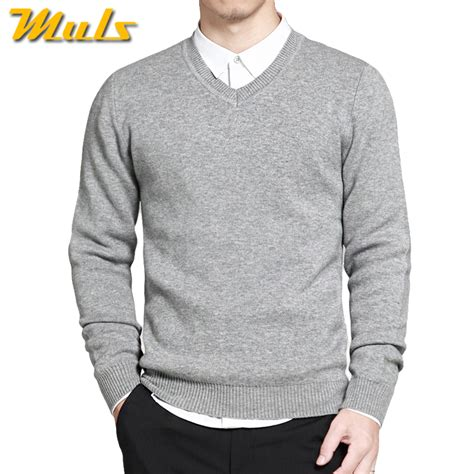 D030651 Sweater Basic One 2017 mens sweater pullovers simple style cotton knitted v neck sweater jumpers thin