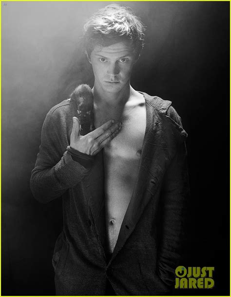 evan peters shirtless for flaunt feature photo