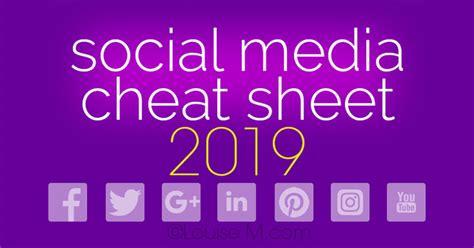social media cheat sheet    image sizes