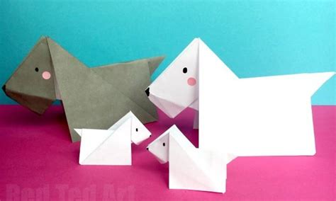 Origami Scottie - origami archives ted s