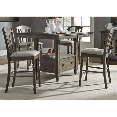 gray counter height table liberty furniture candlewood counter height dining table