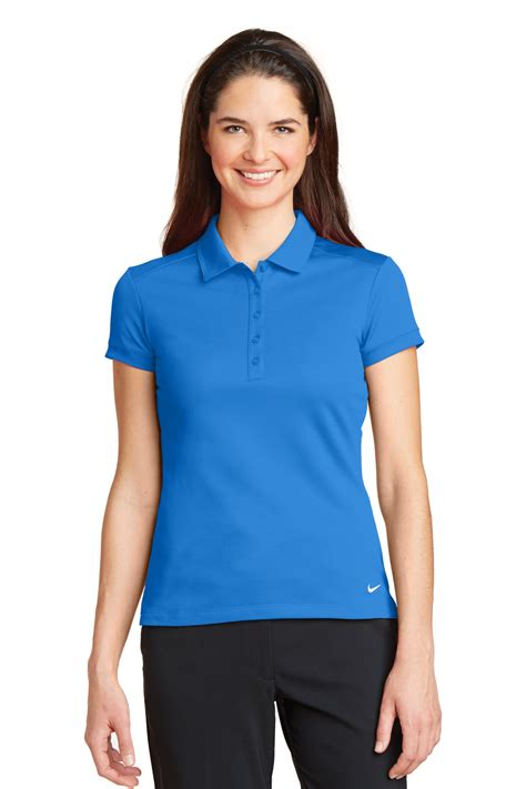 light brown tops for women nike golf ladies dri fit solid icon pique modern fit polo