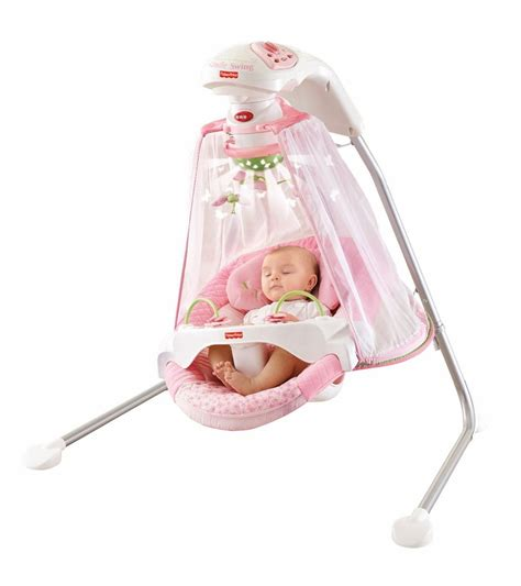 pink baby swing with canopy infant cradle swing papasan butterfly garden fisher price