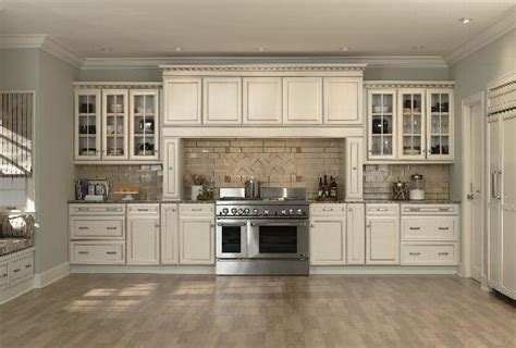 off white cabinets with brown glaze mid continent signature series pictures atlanta kitchen