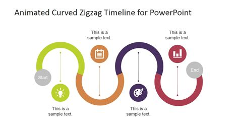 animated curved zigzag timeline for powerpoint slidemodel