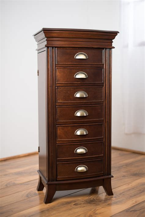 jewelery armoir hillary jewelry armoire rich walnut hives and honey