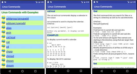 7 top free apps to learn linux unix command line shell on android phone - Learn Android Linux Command Line Shell