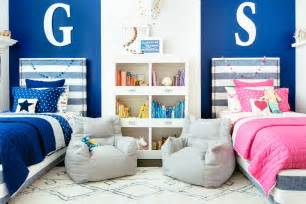Pottery Barn Kids Bedrooms boy and girl shared space makeover project junior