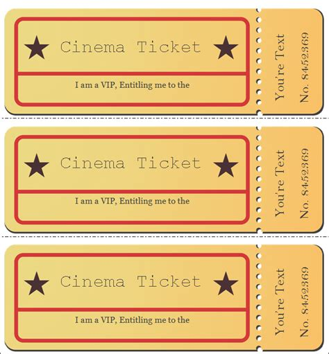 show ticket template 21 free ticket templates creative template