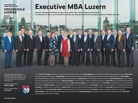 Executive Mba Uses by Absolventinnen Und Absolventen Executive Mba Luzern