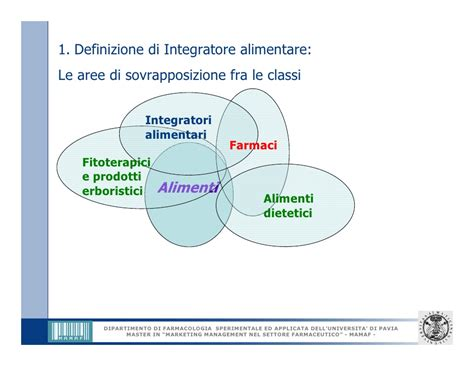 integratore alimentare definizione marketing degli integratori alimentari