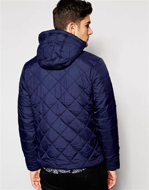 Quilted Hooded Jacket by Blend Quilted Hooded Jacket In Blue For Lyst