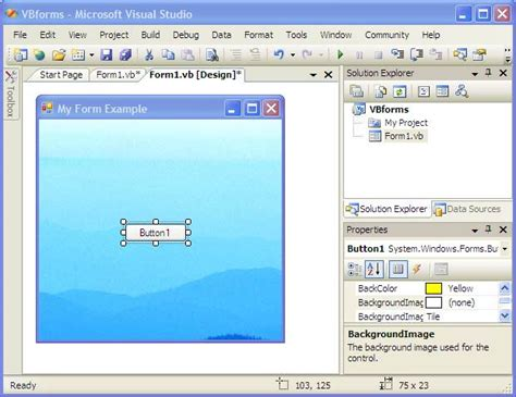 design form on visual basic visual basic and forms techotopia