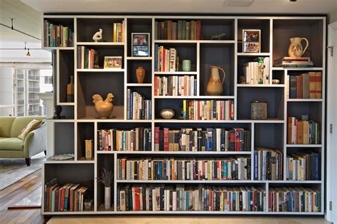 living room bookshelf mondrian bookcase eclectic living room seattle by