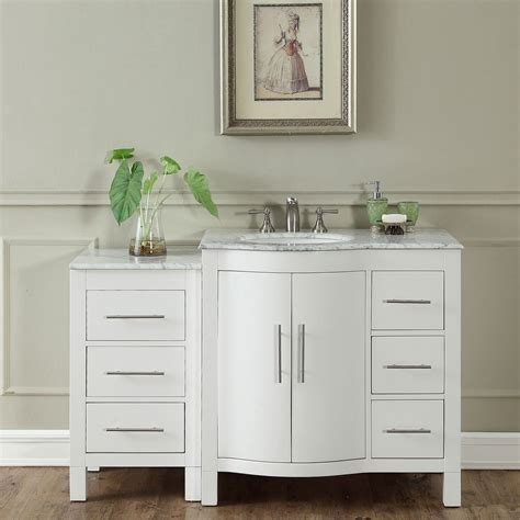 54 sink bathroom vanity 54 inch single sink contemporary bathroom vanity cabinet