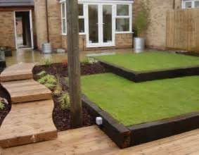 lawn edging from railway sleepers garden pinterest backyards railway sleepers and lawn