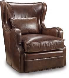 Wellington Brown Leather Swivel Club Chair From Hooker Brown Leather Swivel Chair