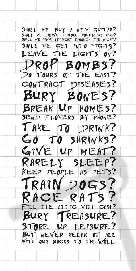 testo the wall 25 best ideas about roger waters the wall on