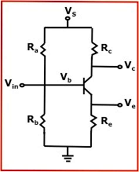resistor divider bjt bjt transistor bias voltage calculator calculates for series resistor and voltage divider