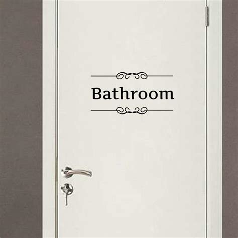 bathroom door sticker interesting 30 bathroom sign decal decorating inspiration
