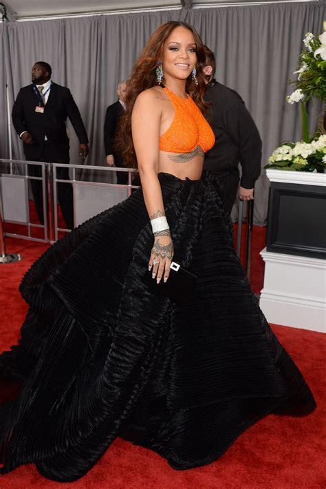 Grammy Awards Rihanna by Rihanna At 59th Grammy Awards In Los Angeles Celebzz
