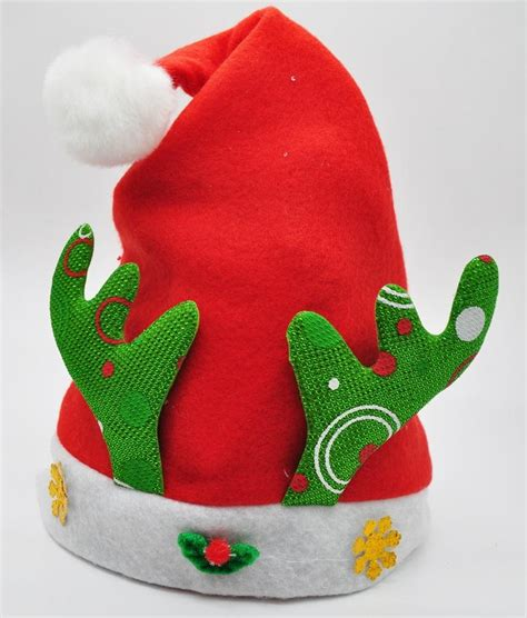 wholesale good quality led plush unique christmas hat