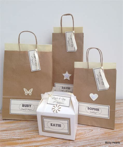 Wedding Gift Ebay by Personalised Paper Vintage Style Wedding Gift Bags