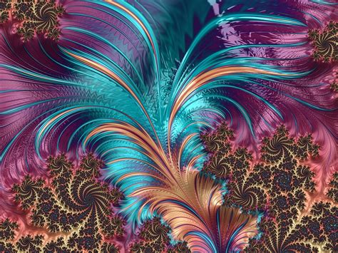 artistic pattern wallpaper free illustration feather fractal artistic design