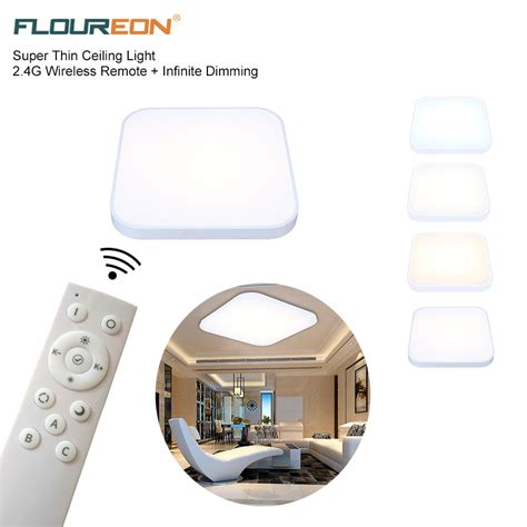 wireless ceiling light with remote led thin wireless remote 36w 2800lm ceiling light