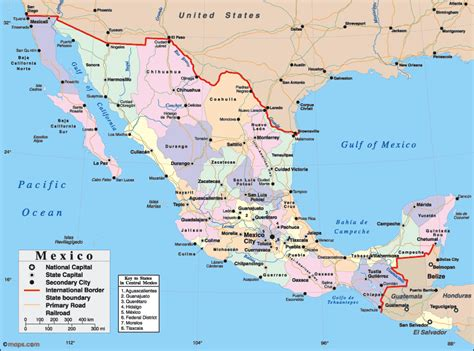 map of the mexico maps of mexico