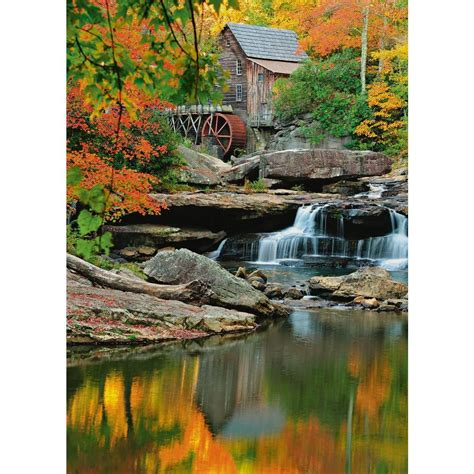 ideal decor wall murals ideal decor 100 in x 72 in grist mill wall mural dm437
