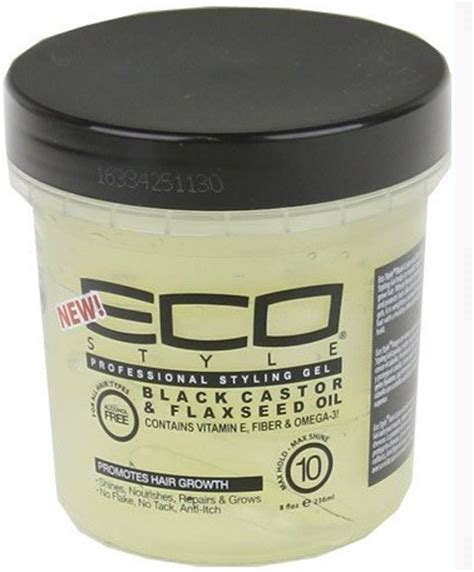 styling gel black black castor oil and flax seed oil styling gel ecoco non
