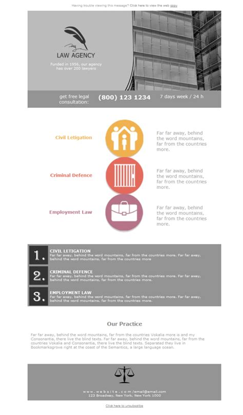free newsletter template legal law firm