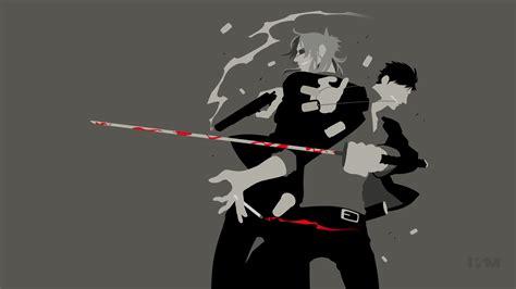 minimalistyczne tapety z anime autorstwa krukmeister a