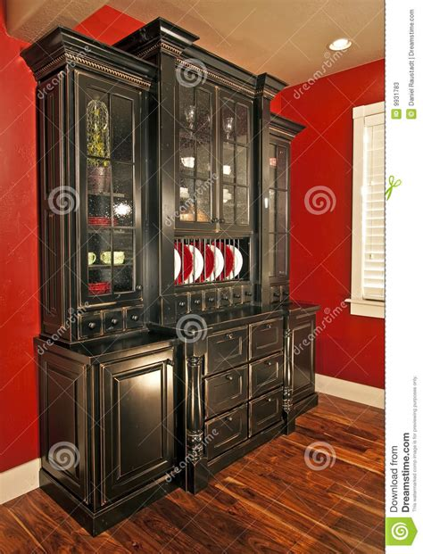 Black Marble Dining Room Table by Dining Room Hutch Buffet Stock Image Image Of Building