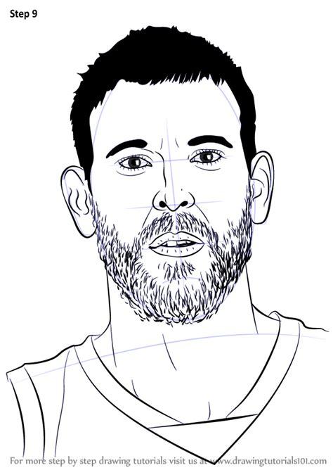 learn   draw marc gasol basketball players step  step drawing tutorials