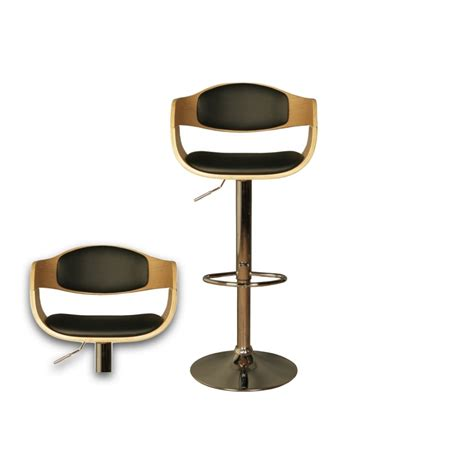 Black Leather Stools by Oak Bar Stool Black Faux Leather