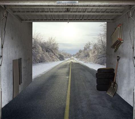 Garage Door Mural Garage Mural Multi Level Decks Outdoor Decor