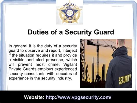 Security Guard Duties duties and responsibilities of a security guard