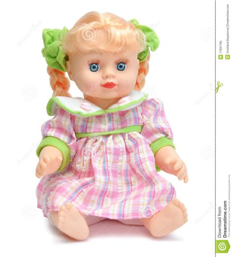 of doll doll in a pink dress royalty free stock photo image