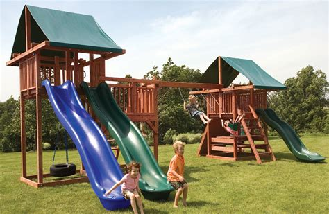 kids swing slide set quality swing and slide sets for kids midway