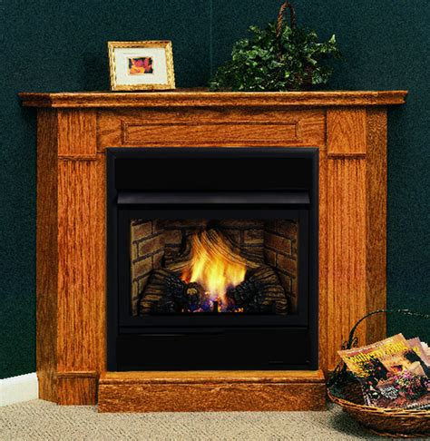 Gas Fireplace Mantel Surrounds by Ventless Gas Fireplace Monessen Hearth Saver 32 Inch