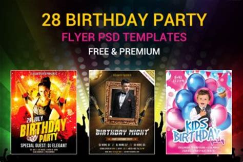 free birthday flyer templates designyep design inspiration tutorials freebies more