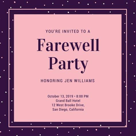 Farewell Party Invitation Templates Canva Farewell Presentation Ideas