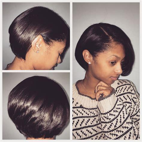 hair extensions for a bob natural hair bob cut and blowout silk press luxe lengths