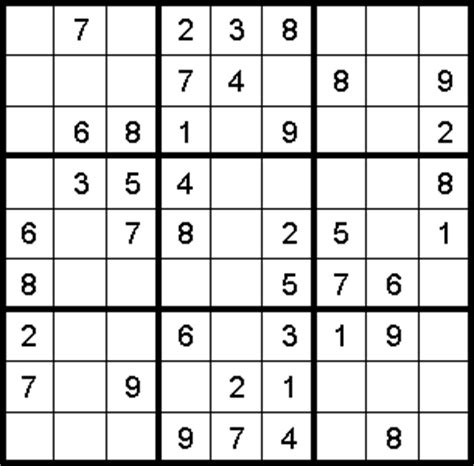 printable sudoku for middle school sudoku puzzle of the week education world