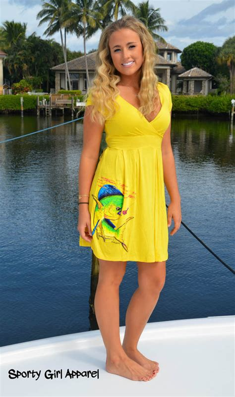 Dress Dolphin 1 womens yellow dolphin dress fishing clothing and