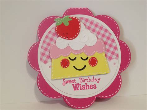 Handmade Birthday - handmade birthday strawberry shortcake card