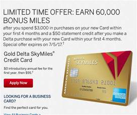 delta skymiles business credit card new 60k offer for the gold delta skymiles 174 credit card
