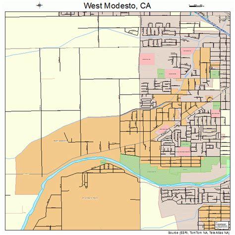 california map modesto west modesto california map 0684578